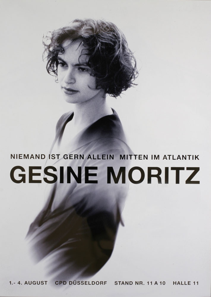Gesine Moritz | Modedesignerin | Messeplakat