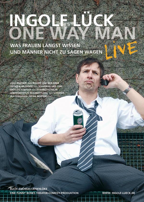 Ingolf Lück | One Way Man | Theaterplakat