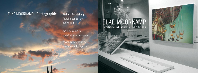 Flyer Elke Moorkamp   Susanne Breuer   Grafikdesign   Köln