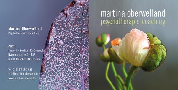 Martina Oberwelland   Psychotherapie und Coaching   Flyer Vorderseite